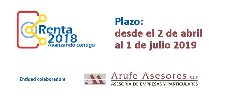 La campaña de la Renta 2018 empieza el 2 de abril y termina el 1 de julio